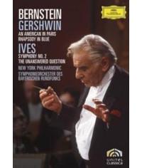 Leonard Bernstein - Gershwin: An American in Paris and Rhapsody in Blue. Ives: Symphony No. 2 [DVD]