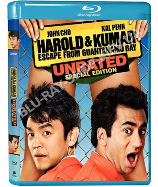 Гарольд и Кумар: Побег из Гуантанамо [Blu-Ray]